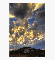 Clouds over Pueblo Espárragos Photographic Print