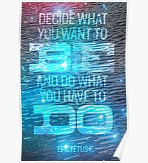Epictetus quote Poster