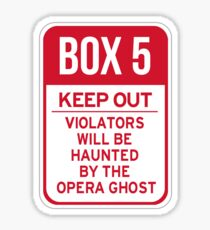 Box 5: Keep Out Sticker