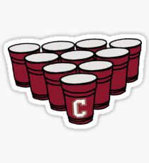 Charleston beer pong Sticker
