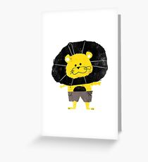 Misfits Lion Greeting Card