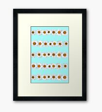 Daisy Chains on Bright Mint Framed Print
