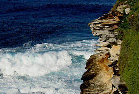 Washing the cliffs  Bondi Beach Sydney by mklau