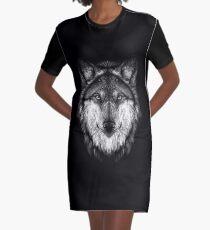 Wolf face Graphic T-Shirt Dress