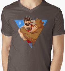 BEAR KISS - TRIANGLE Men's V-Neck T-Shirt