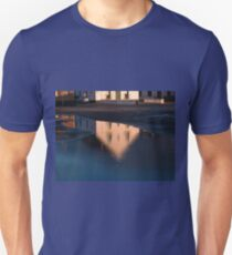 Reflection of a house in a water pond Unisex T-Shirt