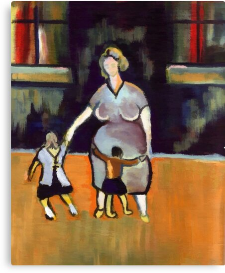 Motherhood ( from my original acrylic painting digitally enhanced) by sword
