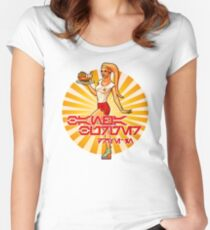 Bantha Burgers Drive-In Pin-Up Women's Fitted Scoop T-Shirt