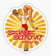 Bantha Burgers Drive-In Pin-Up Sticker