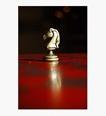 Winning Piece on Chess Photographic Print