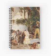Georges Jules Victor Clairin - The Spanish Dancers Spiral Notebook
