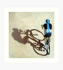 Single Focus Tour de France bicycle oil painting Art Print