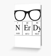 Nerdy Periodic Table Greeting Card