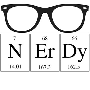 Nerdy Periodic Table by melkel52