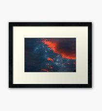 Enhanced Sky Framed Print