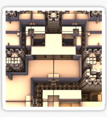 Multidimensional Rooms Sticker