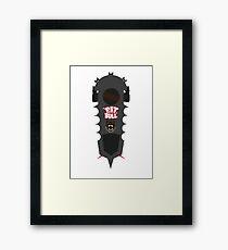 BTTF Pitbull Hover board Framed Print
