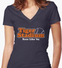 Roar Like '84 Women's Fitted V-Neck T-Shirt