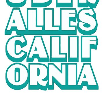 Über Alles California Rock Metal Skate Punk by feriShop