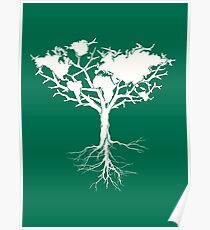 Earth tree *pearl white Poster