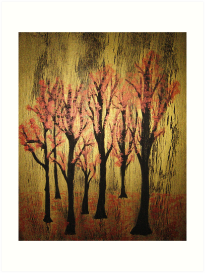 Almost Bare (Trees of Life II) by lunatiqueart