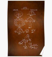 Vintage Barber Apron Patent 1918 Poster