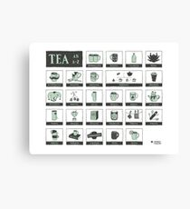 An Alphabet of Tea Canvas Print