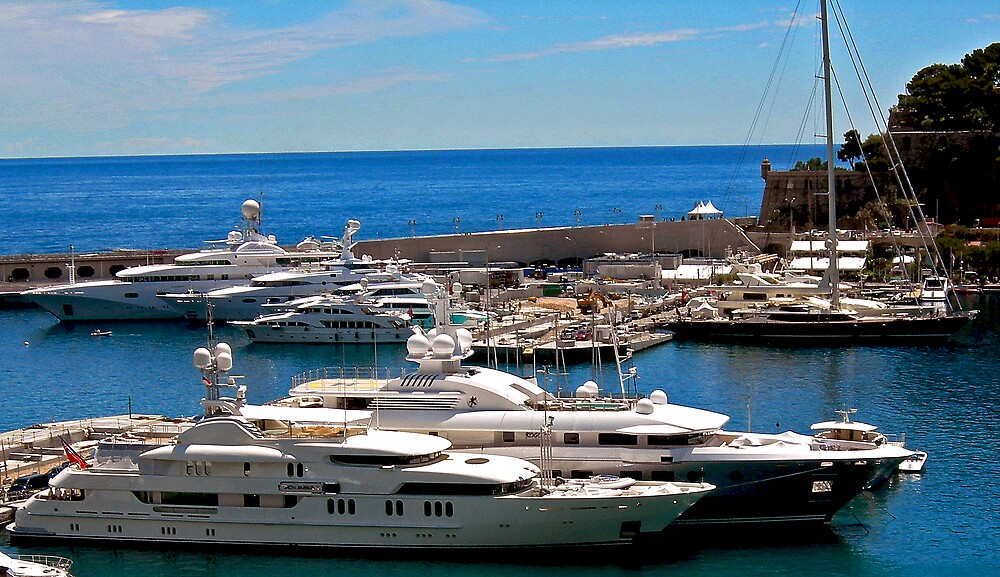 Yacht Harbor in Monte Carlo by Swede