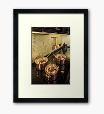 kitchen copper utensils Framed Print