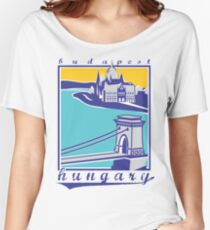 Budapest vintage poster, Chain Bridge Women's Relaxed Fit T-Shirt
