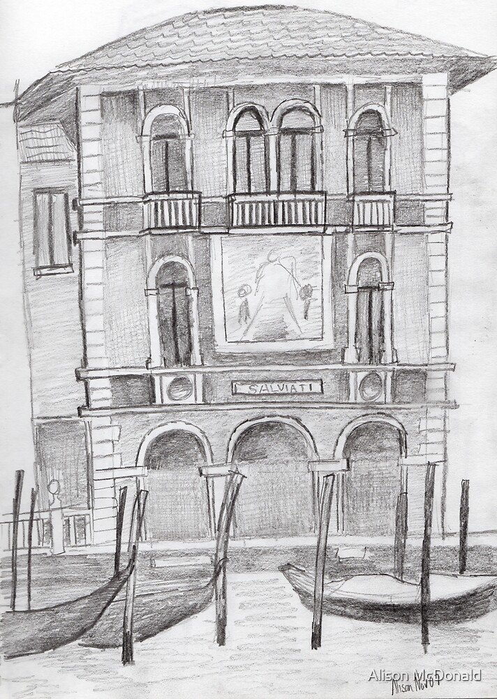 Venice Drawing by Alison McDonald
