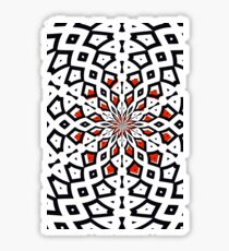 Beautiful Artistic Flower Exploding Red And Black Sticker
