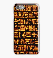 Glowing Hieroglyphics iPhone Case/Skin