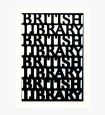 British Library wrought iron decoration Art Print