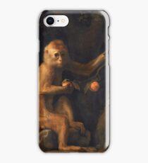 George Stubbs - A Monkey (1799) iPhone Case/Skin