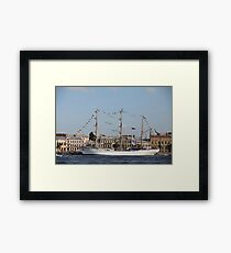 Mexican three-masted barque Cuauhtemoc Framed Print
