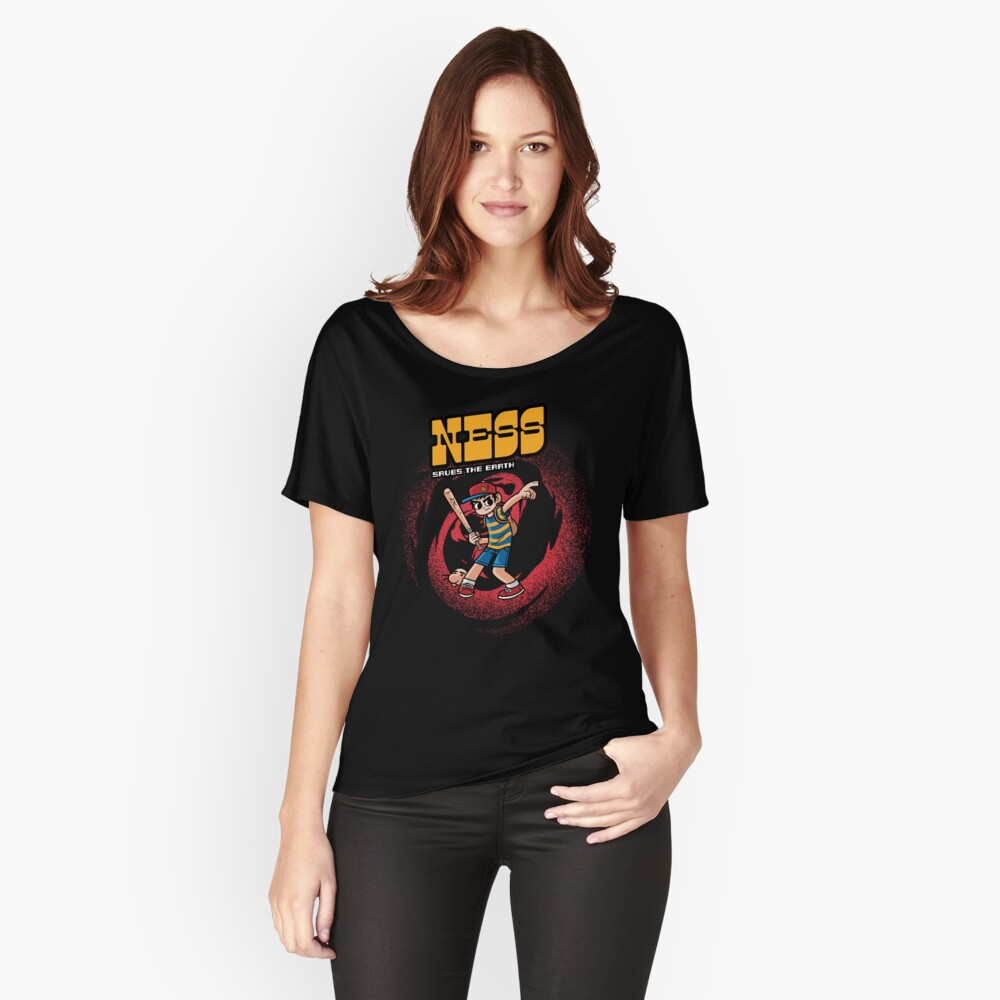 Ness Saves The Earth Women's Relaxed Fit T-Shirt Front