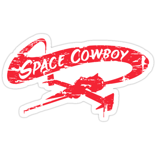 Space Cowboy - Distressed Red by MWMcCullough