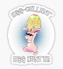 EggCellent Egg Hunter Funny Easter Outfit Pun Retro Sticker