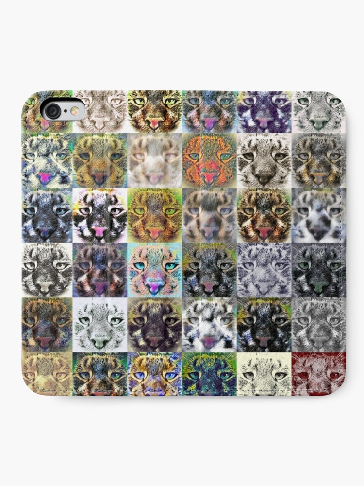 Alternate view of Artificial neural style wild cat iPhone Wallet