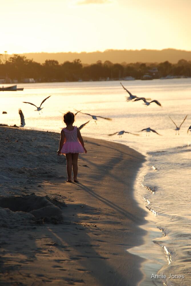 Chasing birds by Annie Jones