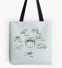 bts signatures Tote Bag