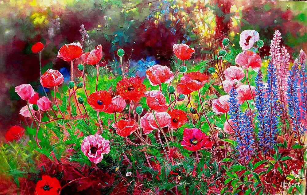 Poppy garden  by liboart