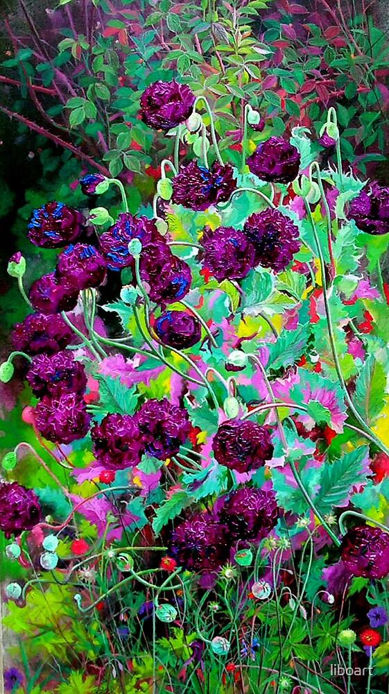 Purple poppy2 by liboart