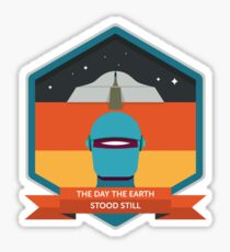 The Day The Earth Stood Still Badge Sticker