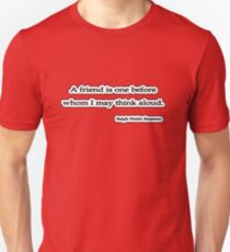 A friend is, Ralph Waldo Emerson Unisex T-Shirt