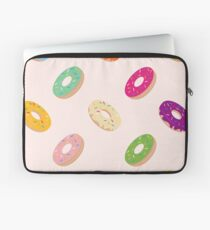 Donuts Pattern | Pastel Pink Laptop Sleeve