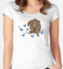 Wrens football Wombat Women's Fitted Scoop T-Shirt