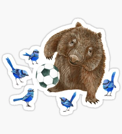 Wrens football Wombat Sticker