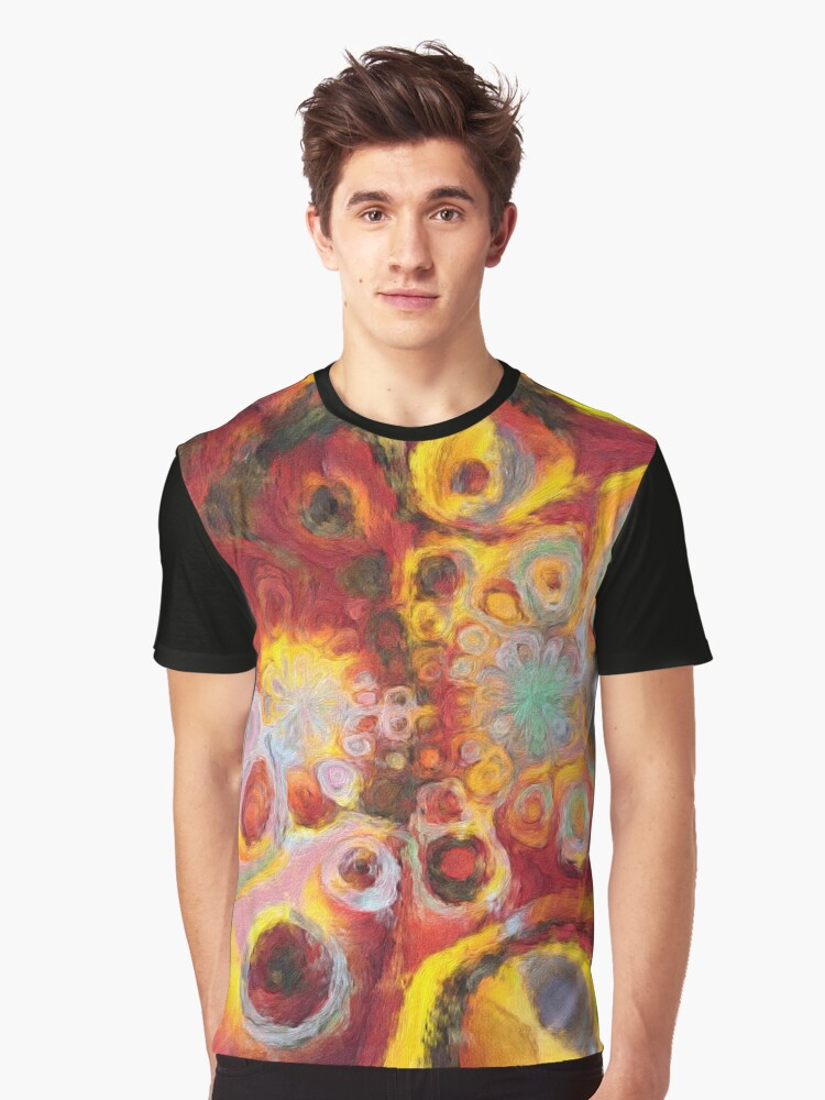 Hot Psychedelia Graphic T-Shirt Front